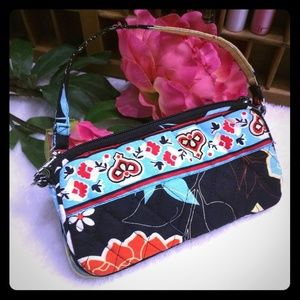 Floral Quilted Wristlet